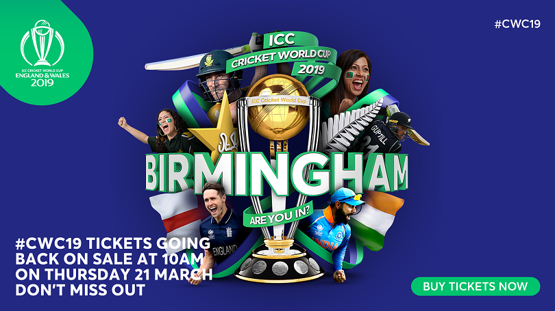 Cricket World Cup Tickets Back On Sale Across All Teams And