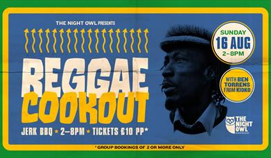 Reggae Cookout 16th august artwork