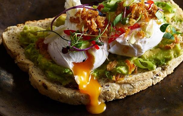 Le Freak bottomless brunch at Alchemist Brindleyplace smashed avocado on toast