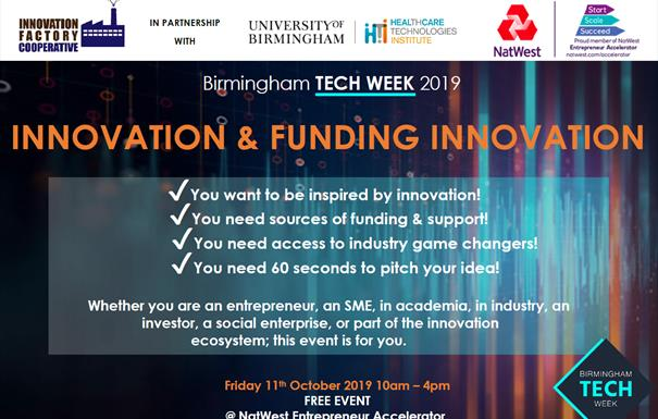 Birmingham Tech Week: Innovation & Funding Event