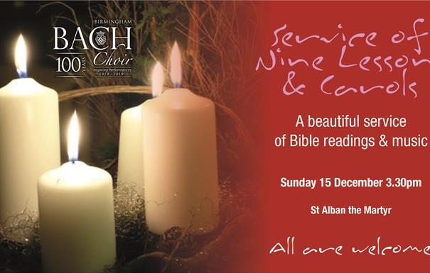 Service of Nine Lessons and Carols with Birmingham Bach Choir
