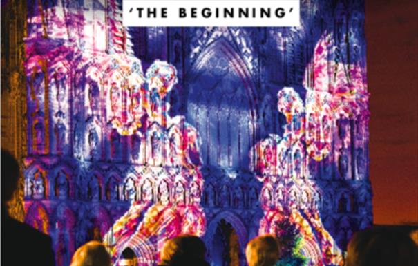 The Cathedral Illuminated 2019: The Beginning by Luxmuralis Artistic Collaboration