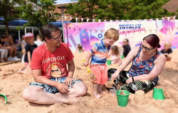 Touchwood's urban beach is back!
