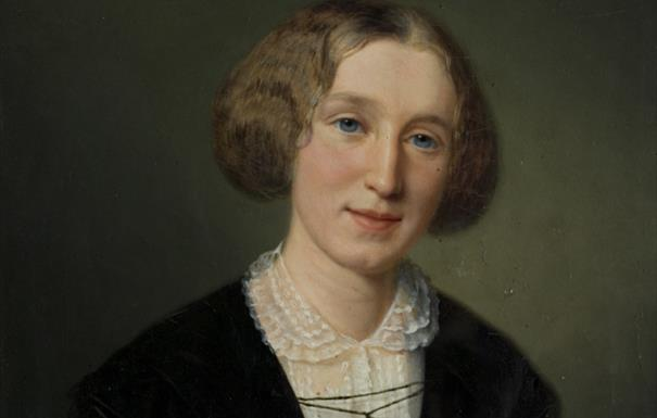 (Portrait of George Eliot (Mary Ann Evans), 1880-1881, by François d'Albert-Durade)
