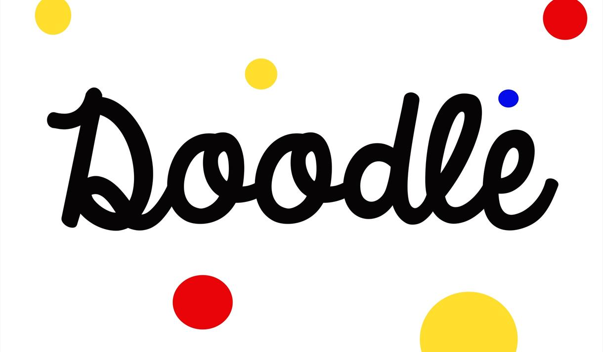 a decorative version of the word doodle