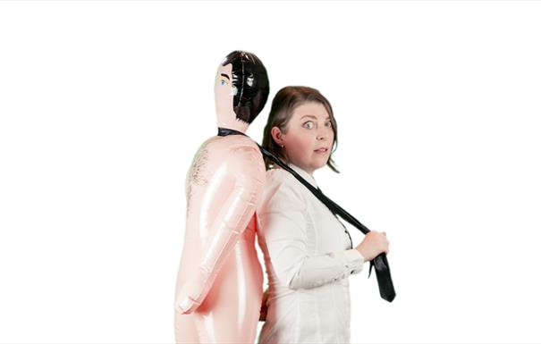 Woman with Inflatable Male Doll